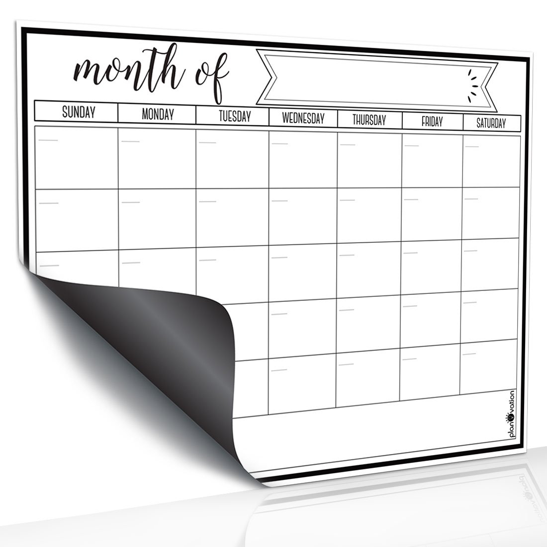 Magnetic Dry Erase Refrigerator Calendar by planOvation | Large 2017 Calendar Whiteboard Monthly Planner Magnet Traffic & Trade Group