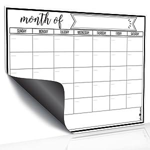 Magnetic Dry Erase Refrigerator Calendar by planOvation | Large Calendar Whiteboard Monthly Planner Magnet