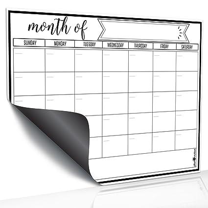 Amazon Com Magnetic Dry Erase Refrigerator Calendar By Planovation