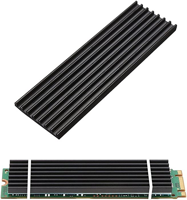 Aluminum Heatsinks for PCIe NVMe M.2 2280 SSD with Silicone Thermal Pad, DIY Laptop PC Memory Cooling Fin Radiation Dissipate (Ordinary Edition)