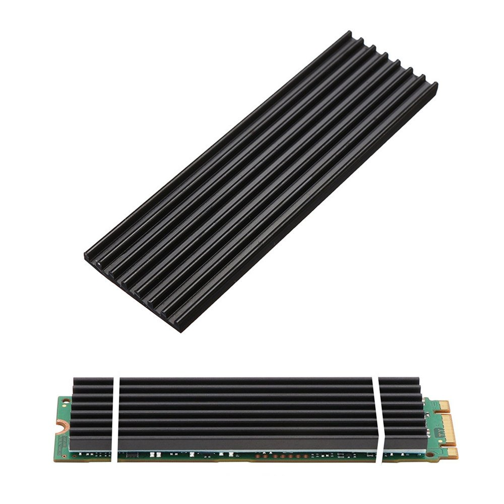 Aluminum Heatsinks for PCIe NVMe M.2 2280 SSD with Silicone Thermal Pad, DIY Laptop PC Memory Cooling Fin Radiation Dissipate (Ordinary Edition) by Angel mall (Image #1)