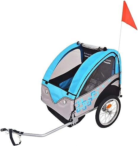 Remolque Bicicleta Infantil (Es adecuado para 1 a 2 niños, máx. 30 ...