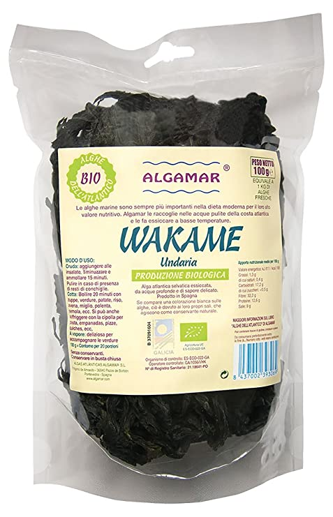 Algas Wakame Macrobiótica Crecido En Españas Orgánica 100g