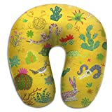 U-Shaped Pillow Neck Shoulder Body Care Lovely Cartoon Animals Health Soft U-Pillow For Home Travel Flight Unisex Supportive Sleeping