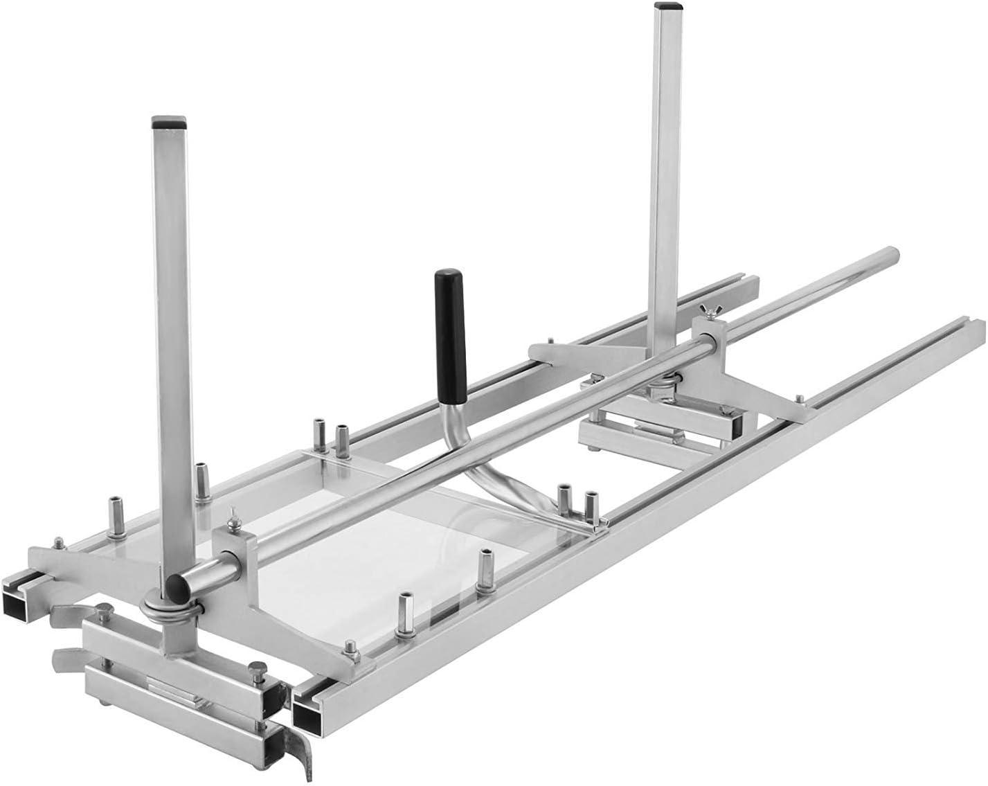 HUKOER Herramientas de Madera Molino de Motosierra Portátil de Aluminio Acero con Longitud de Tablas Ajustable 18