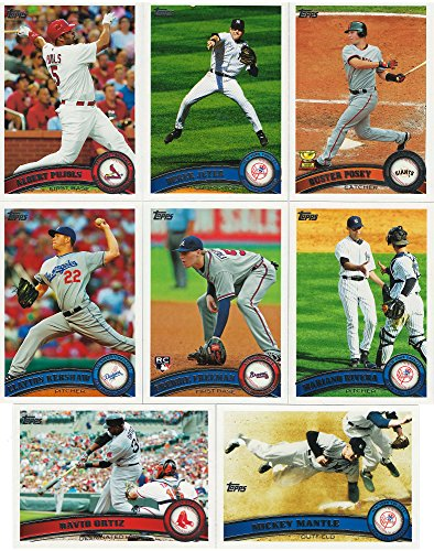 Complete Base Card Set - 2011 Topps MLB Baseball Series Complete Mint Hand Collated 660 Card Set Including Series 1 and 2 Cards Derek Jeter Mickey Mantle Plus Complete M (Mint)