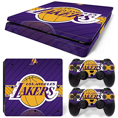 Lakers Skin (GoldenDeal PS4 Pro Console and DualShock 4 Controller Skin Set - Basketball NBA LA - PlayStation 4 Pro Vinyl)