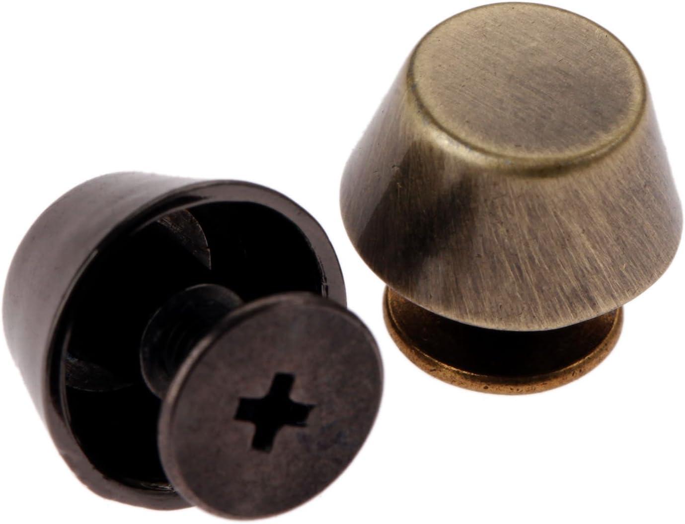 Mgoodoo 10/x Fond du sac Clous Rivets en alliage de zinc 8/mm pour Punk V/êtements