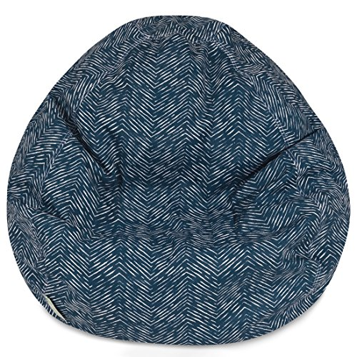 Majestic Home Goods Navajo Classic Bean Bag, Small, Navy (Lounge Kids Seating)