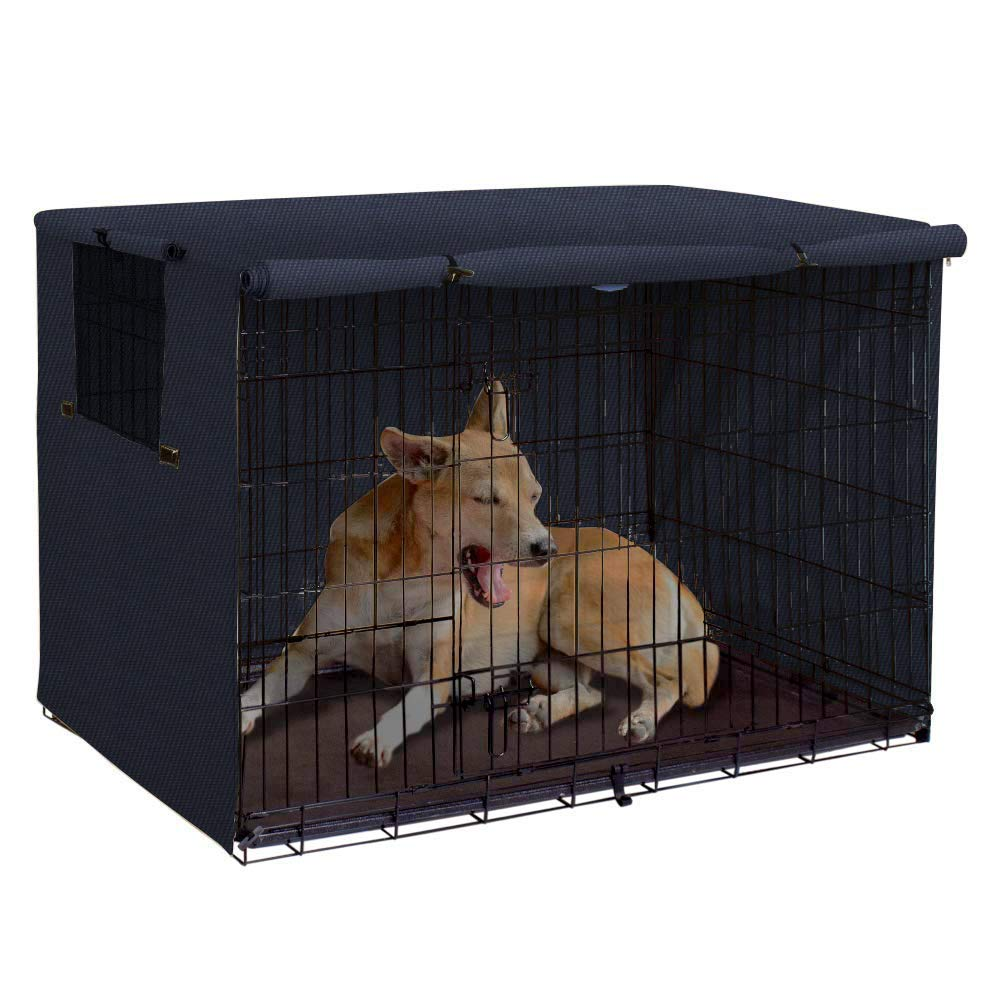 Dog Crate Cover 30 Inch Dog Kennel Cover,Durable Polyester Pet Kennel Cover Universal Fit for Wire Dog Crate