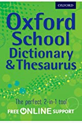 Oxford School Dictionary & Thesaurus Hardcover