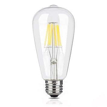 superdream 6 W Bombilla LED de luz filament Vintage, estilo Edison ST64, sustituye a