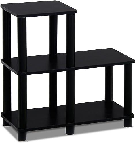 Furinno Turn-N-Tube Accent Decorative Shelf, Espresso Black
