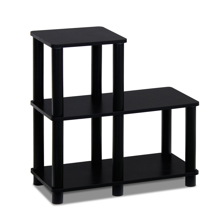 Furinno 14032EX/BK Turn-N-Tube Accent Decorative Shelf, Espresso/Black