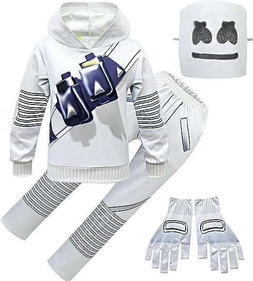 Kids Boys Marshmello DJ Music Hoodie Girls Hoodie Pants Set Child Gift For 6-14Y