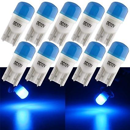 Grandview T10 501 LED Bombillas de Cerámica Azul 196 168 W5W Bombillas con 3-2835-SMD Para el Interior del Automóvil Matrícula del Camión Matrícula ...