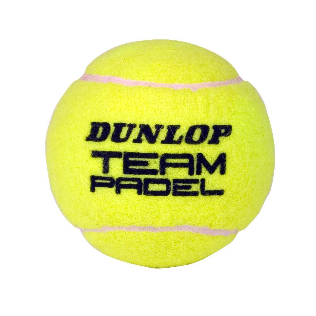DUNLOP Team Pelotas Padel B3, Adultos Unisex, Amarillo, Bote 3