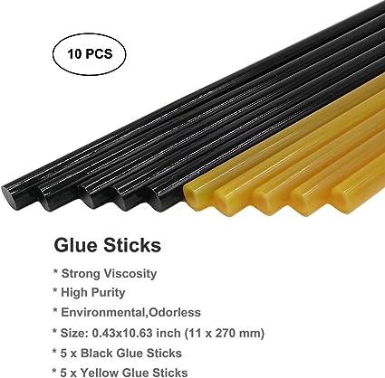 5pcs Car Dent Repair Kit PDR Glue Sticks Without Paint White Black Black