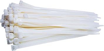 100 Stück Profi Kabelbinder Weiss Industriequalität 450 Mm X 7 6 Mm 54 4 Kg Zugkraft Nylon Cable Ties Weiß Für Pc Fahhrad Industrie Von Damstone Baumarkt