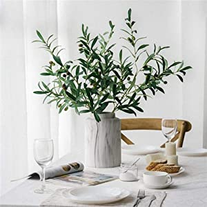 Acamifashion Fake Plants 1Pc Artificial Olive Branch with Fruits Fake Plant Home Decor Photography Props