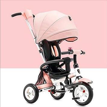 QILEGN Carrito de bebé Niños Bebé trolleytricycle Plegado 1-3-6 años de Edad