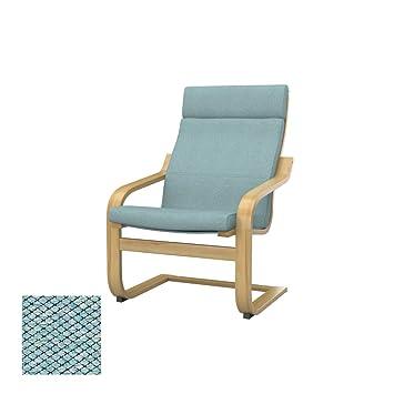 Soferia - IKEA POÄNG Funda para sillón, Nordic Sea Green ...
