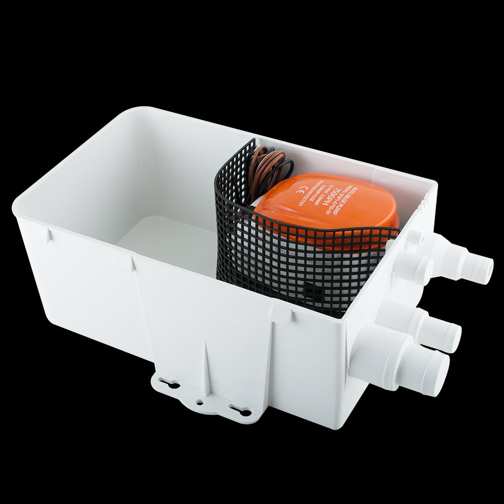 Purewill Easy Installation DC 12V 600GPH Boat Marine Shower Sump Bilge Pump Drain Kit System Ignition Protected