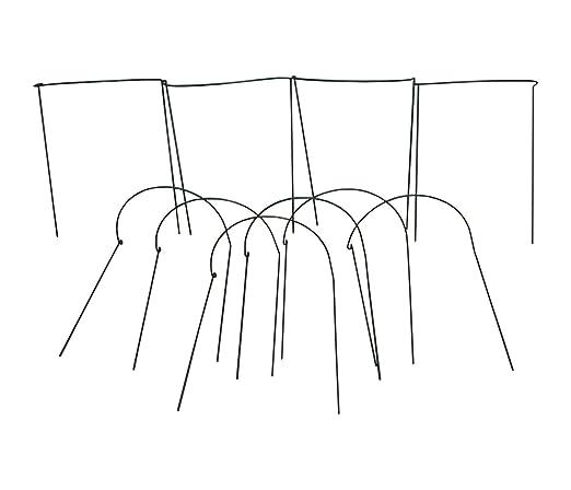 Pack de 10 Selecciones Gard N Aro sistema de soporte para plantas 52/x 90/cent/ímetros