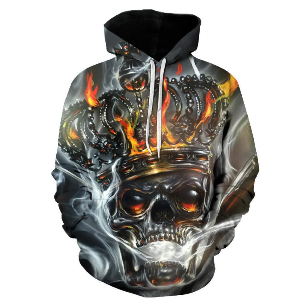 WEIYI230 6XL 3D Hoody Coat Outwear Blouse Fashion Coat Winter Jacket with hat Crown Digital Print Hooded Couple Sweater