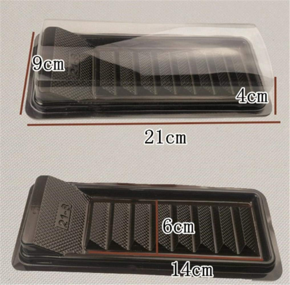 Eli Hopkin 100 Papier Transparent Emballage Triangle Mousse Cassette Poign/ées pour g/âteau doux emballage Bo/îte de rangement,100pcs 21x9xH4cm
