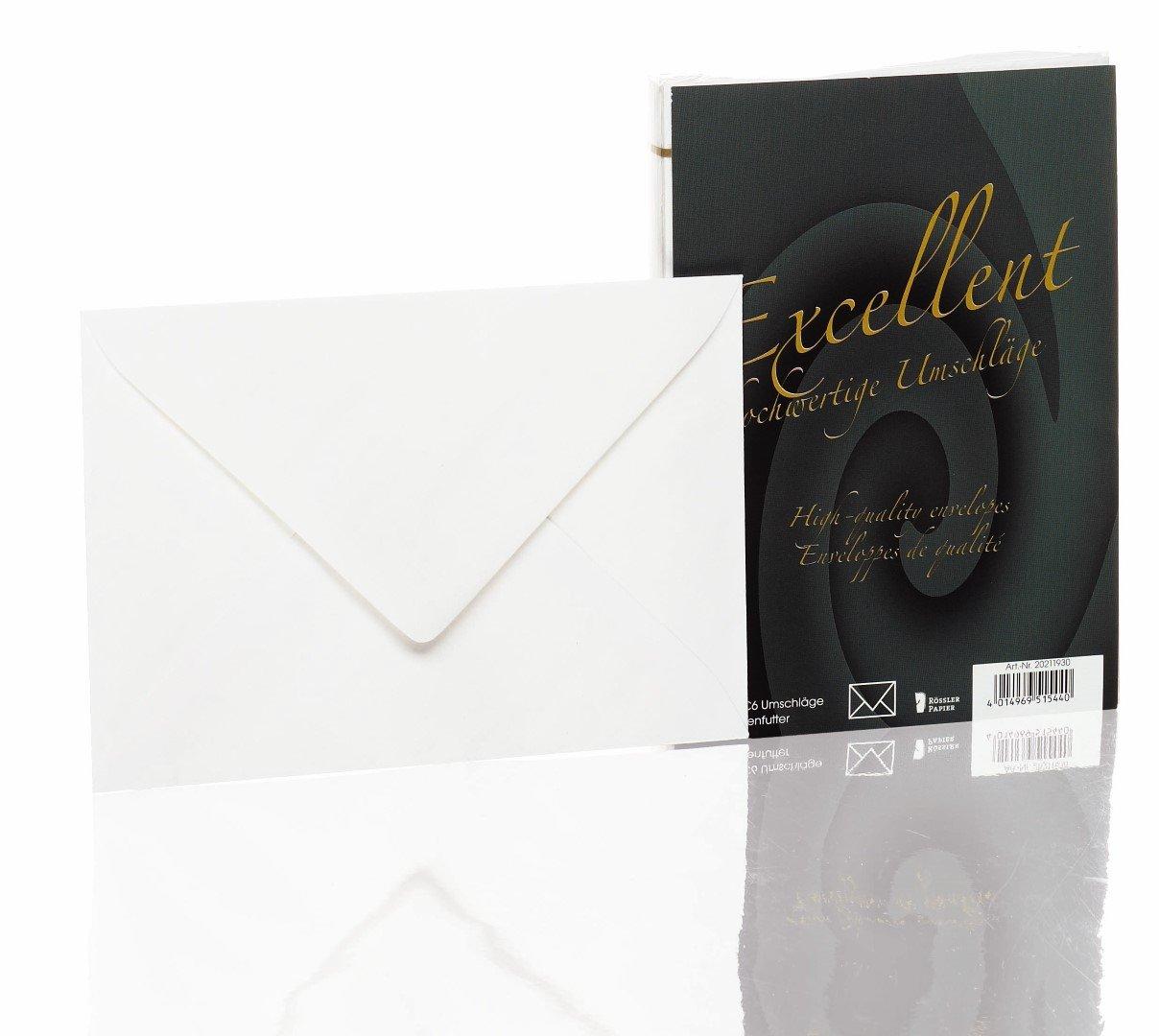 Rössler Papier - Bütten - Briefhüllen (25 Stück, C6) ivory ...