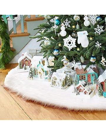 Cubre pie arbol navidad blanco