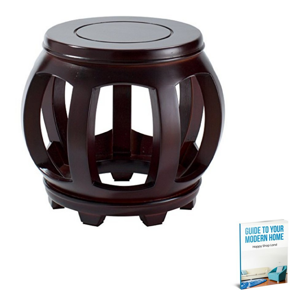 Minimalistic Coffee Table, Wooden Material, Waterproof, Anti-Slip Surface, Dark Wood Color, Round Shape, Lightweight, Ideal For Indoor Spaces, Stylish Design, Sturdy And Durable Construction & E-Book