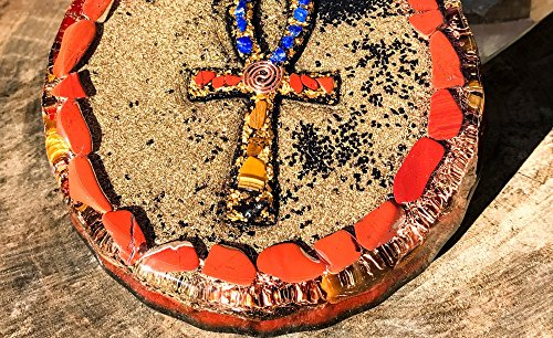 Violet Flame Orgone ~ Orgonite Ankh Charging Plate ~ EMF Protection Cleansing Plate by Violet Flame Orgone (Image #2)