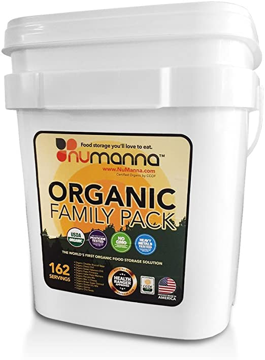 Amazon.com: numanna USDA orgánico paquete familiar 162 ...