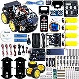 Elegoo EL-KIT-010 UNO Project Upgraded Smart Robot Car Kit with UNO R3, Line Tracking Module, Ultrasonic Sensor, Bluetooth module ect