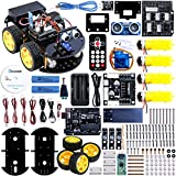 UNO Project Upgraded Smart Robot Car Kit with UNO R3, Line Tracking Module, Ultrasonic Sensor, Bluetooth module ect