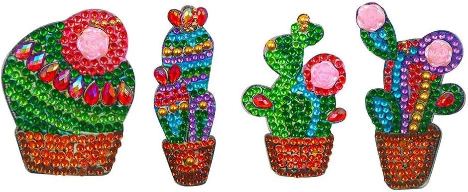 Full Drill Diamond Painting Keyrings Key Chain Jewelry 4pcs DIY Special-Shaped