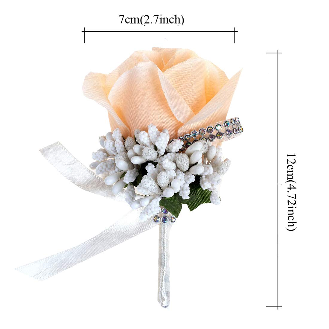 6pcs Party JaosWish Rose Boutonniere Handmade Corsage with Pin and Clip for Bridegroom Grooms Man Perfect for Wedding Prom