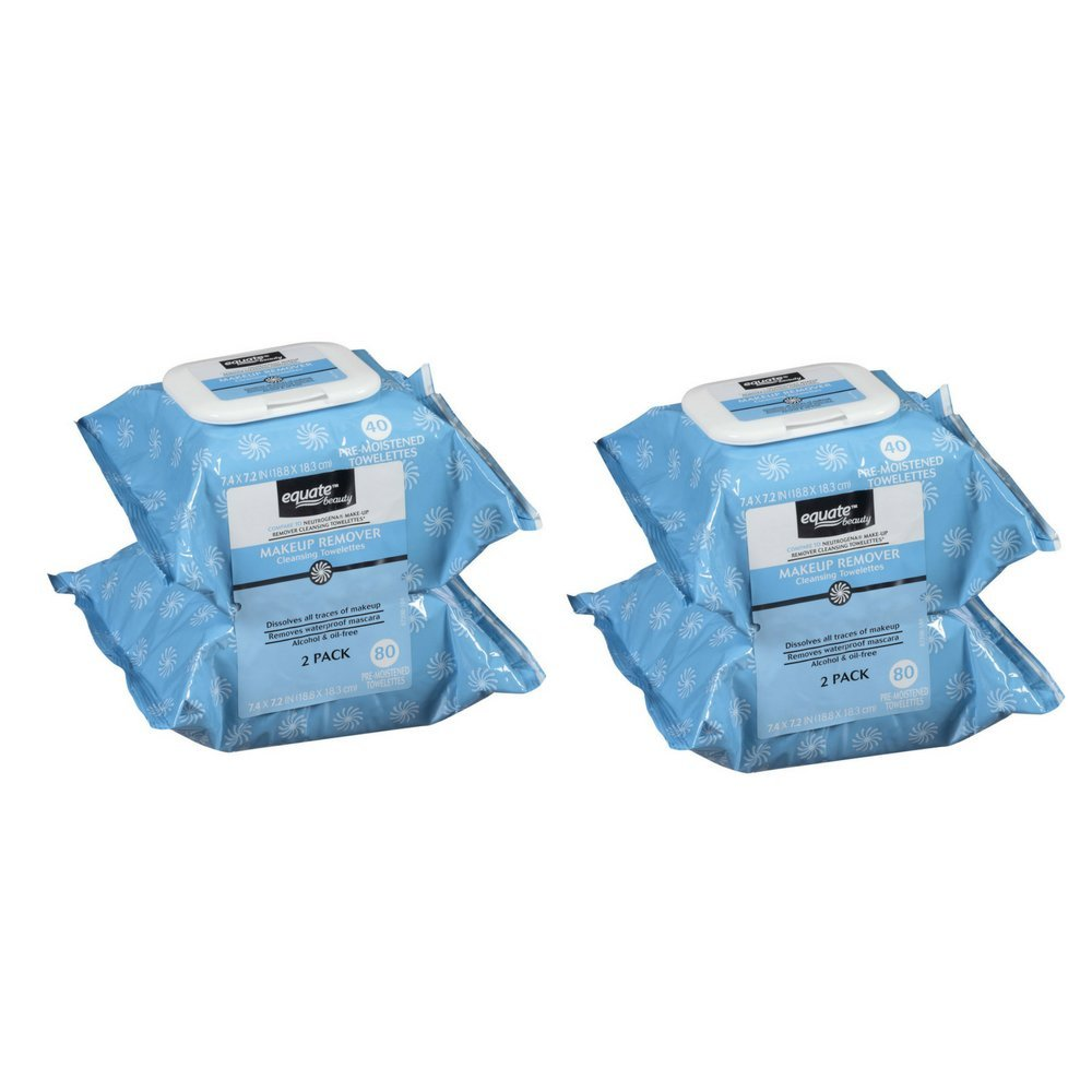 Amazon Equate Makeup Remover Cleansing Towelettes 80ct Pack Of