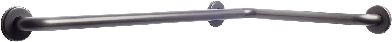 CSI Bathware BAR-HA3030-TW-125-OB Series L-Shaped Horizontal Bathroom Angled Safety Bar, Oil Rubbed Bronze
