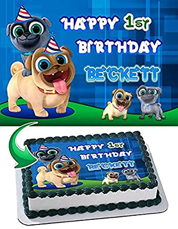 Puppy Dog Pals Edible Cake Topper Personalized Birthday 1 2 Size