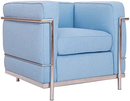 Fine Amazon Com Mlf Le Corbusier Style Sofa Armchair Blue Gmtry Best Dining Table And Chair Ideas Images Gmtryco