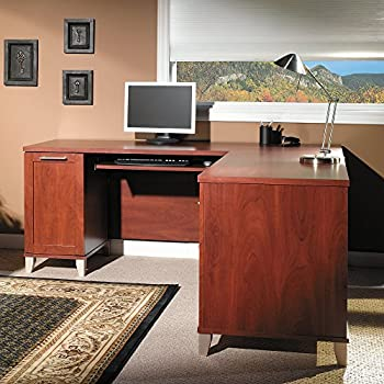 somerset 71w l shaped desk in hansen cherry