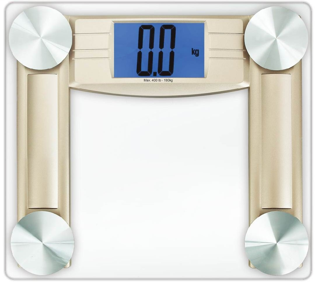 Cook N Home Digital Bathroom Scale, Transparent