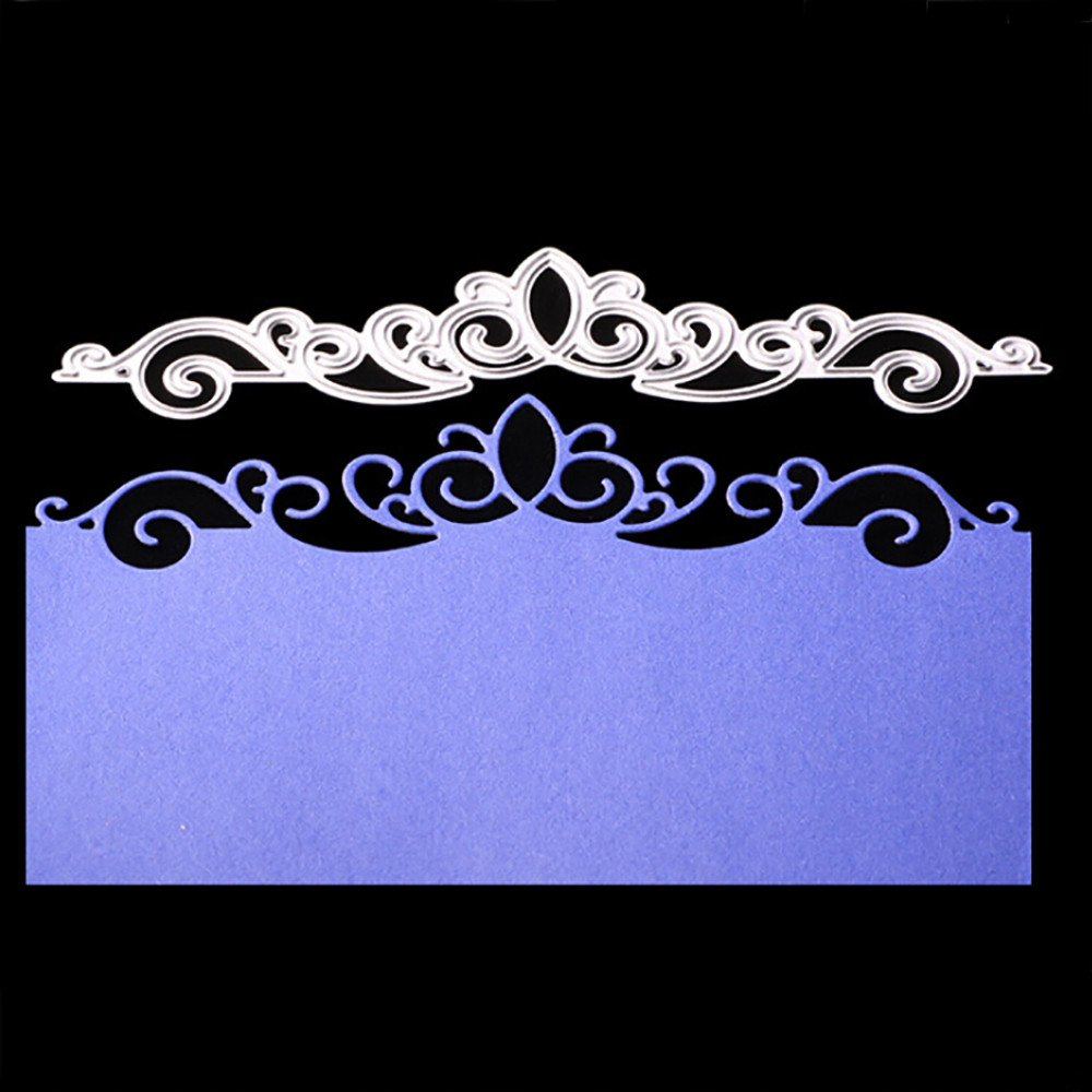 Hongxin Crown Lace Metal Cutting Dies Embossing Die Cuts Scrapbooking Dies Metal Cut For Card Album Decoration Flower Crown For Card New Year Present DIY Wedding Valentine's Greeting Card Hongxin-cutting dies 1255ggg