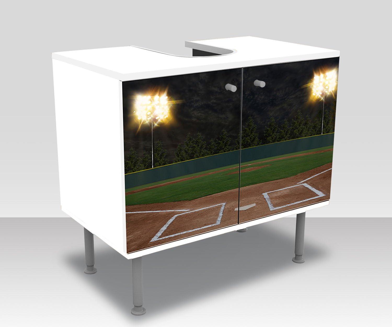 wandmotiv24 Mueble de baño Estadio de Baseball Pegado Frontal Lavabo, Mueble Lavabo M0928: Amazon.es: Hogar