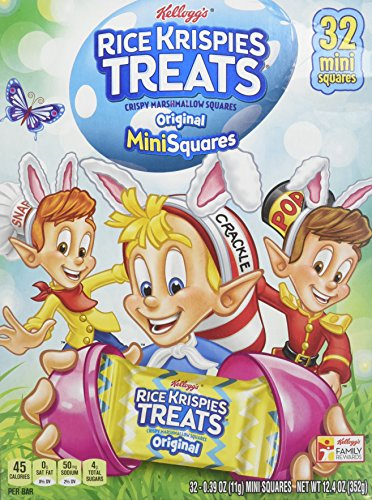 Kellogg's Rice Krispies Treats Easter Fun 32 Mini Squares Crispy Marshmallow Squares ()