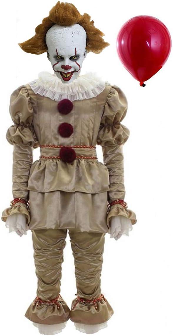 BIRDEU Halloween payaso Cosplay Disfraz Deluxe Outfit Suit con ...