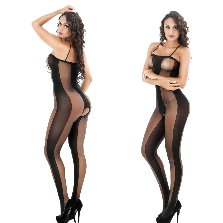 d4d4ac619c3 Amazon.com  FUNFSEX Women Sexy Lingerie Soft Net Large Elastic Bodystocking  Open Crotch Transparent Body Suit Slim Nightwear  Sports   Outdoors